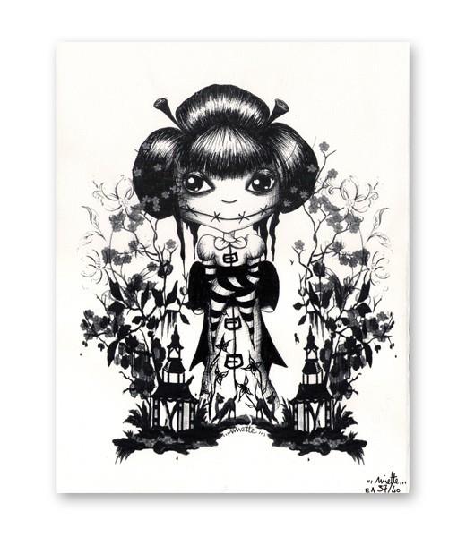 Sérigraphie Artisanale - Geisha