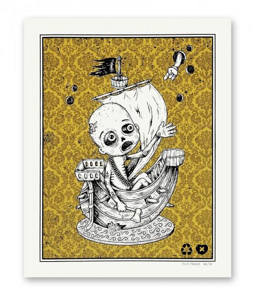 Sérigraphie artisanale - XXX prod.© - Le naufragé