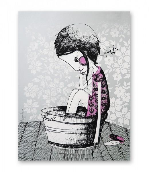 Sérigraphie artisanale - Marianne Pasquet - Le bain 2 pieds
